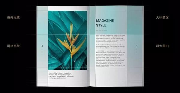 EMUI10杂志锁屏设计